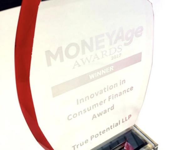 True Potential Investor Wins 'Innovation In Consumer Finance Award' At The MoneyAge Awards 2017