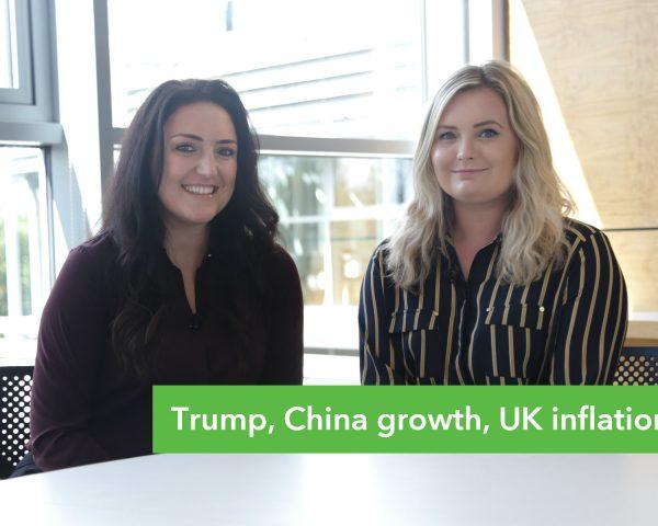 Money Round Up – Trump, China growth, UK inflation