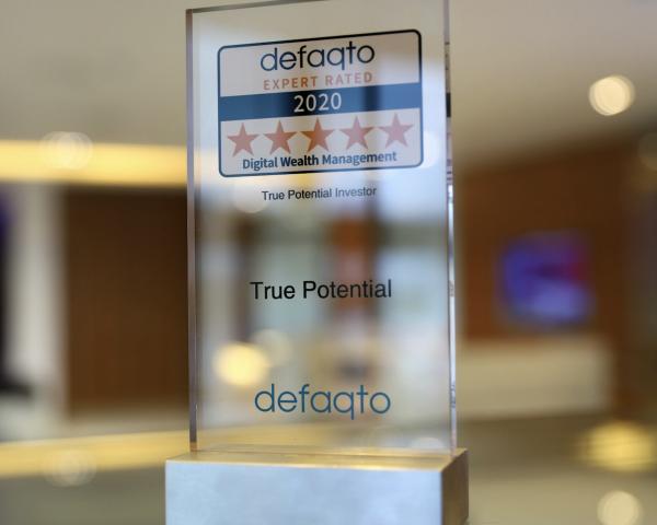 True Potential Investor Awarded Full 5 Stars Rating From Defaqto