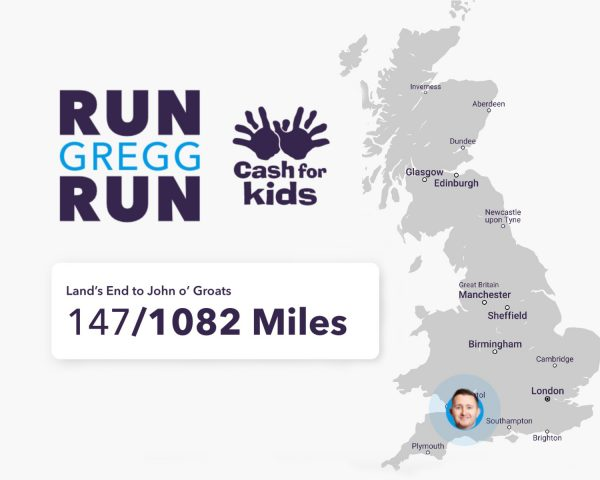 Run Gregg Run! Running the Length of the UK To Fundraise for Cash for Kids
